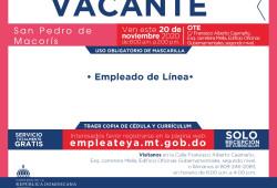Ministerio de Trabajo invita a jornada de empleo en San Pedro de Macorís