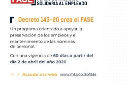 Ministro de Trabajo anuncia que está en funcionamiento página web  para más fácil acceso al programa FASE
